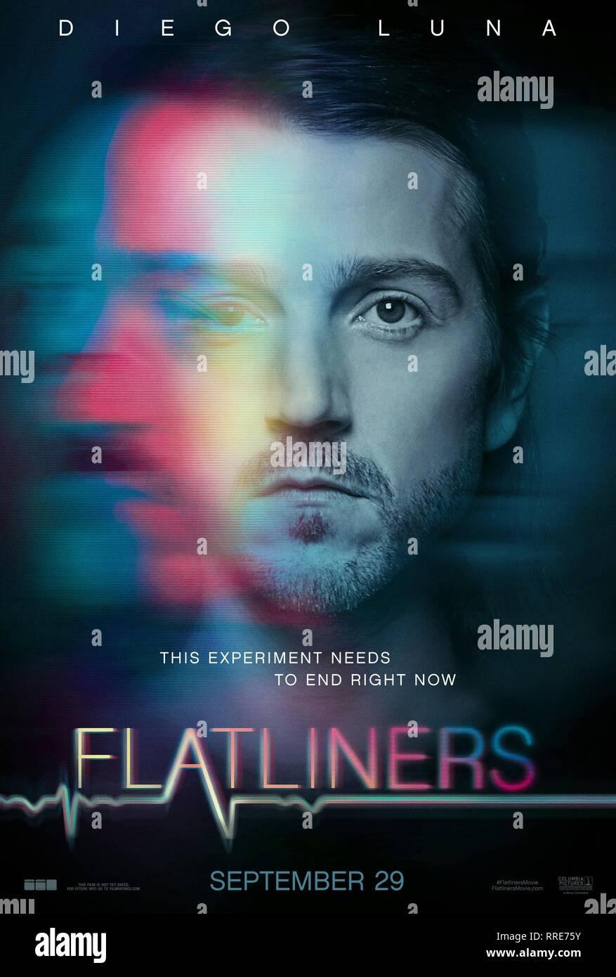 FLATLINERS, DIEGO LUNA POSTER, 2017 - Stock Image