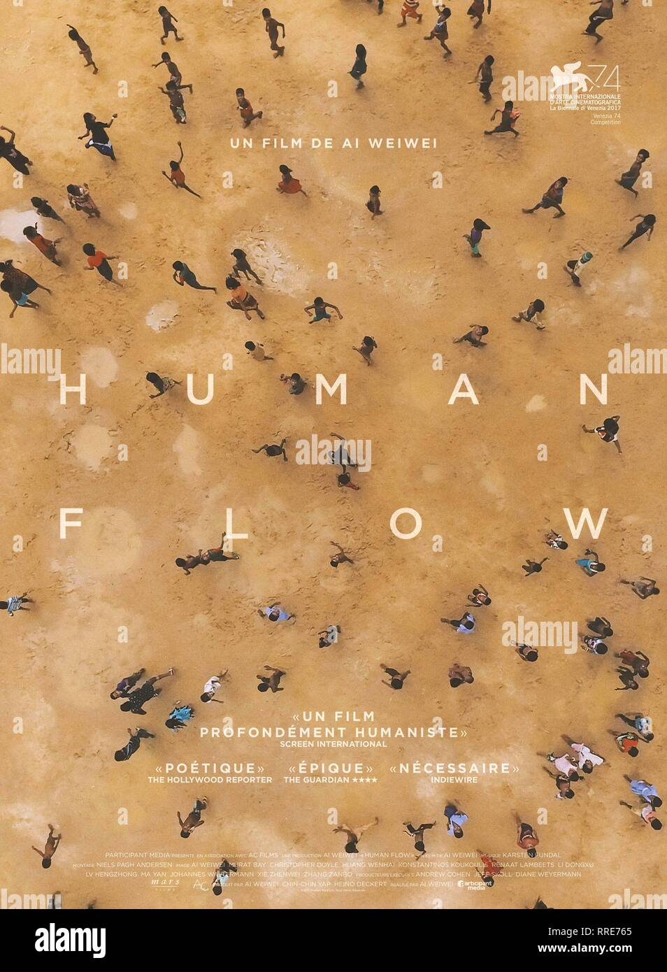 HUMAN FLOW, MOVIE POSTER, 2017 - Stock Image