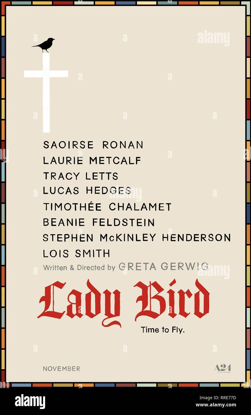 LADY BIRD, MOVIE POSTER, 2017 - Stock Image