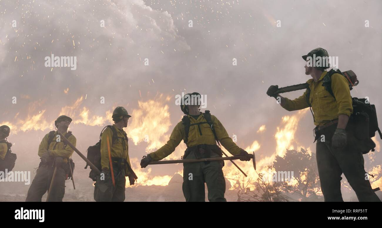 ONLY THE BRAVE, FIREFIGHTERS, 2017 - Stock Image