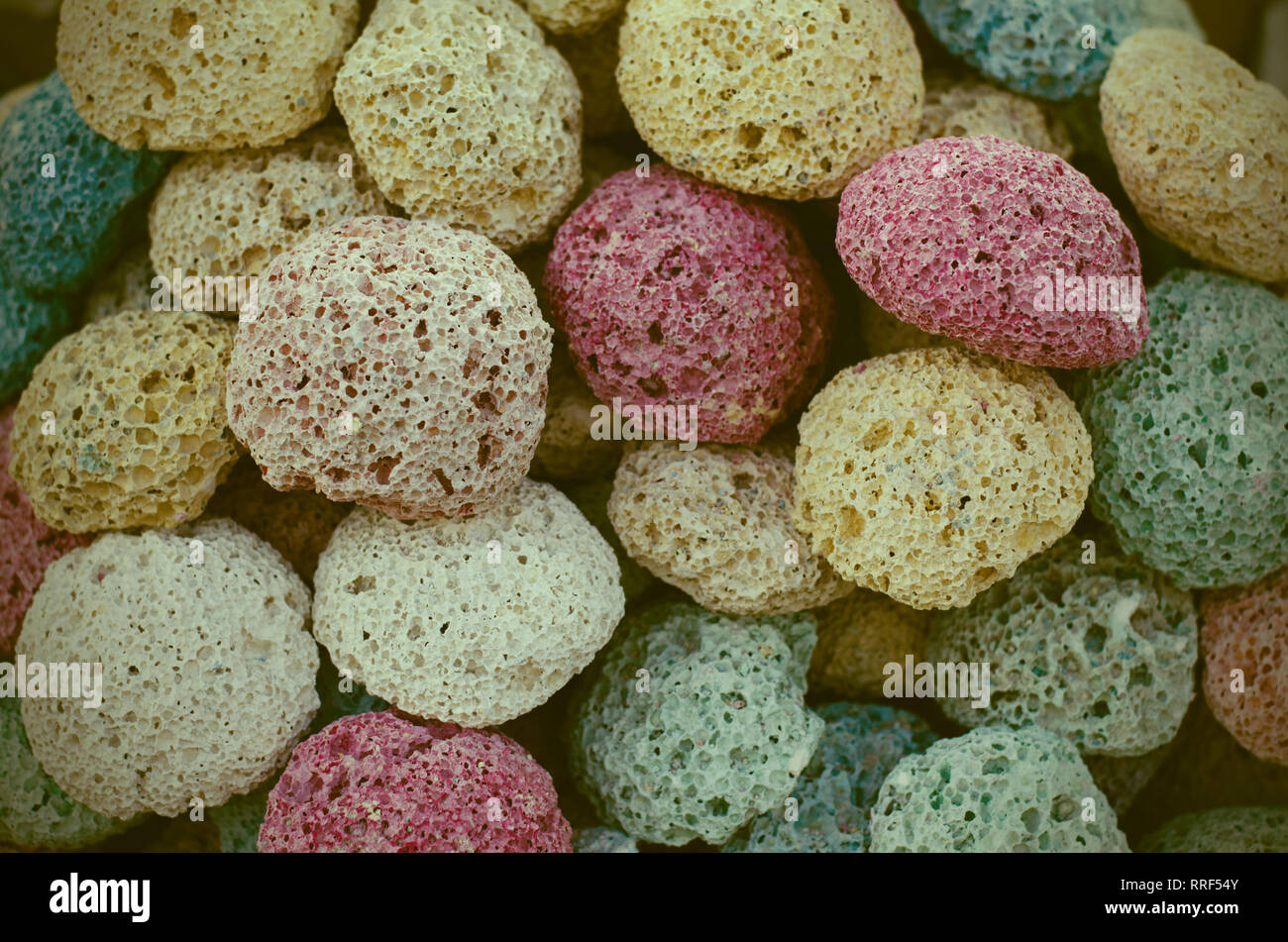 Pumice slices at old egyptian souvenirs market store. - Stock Image