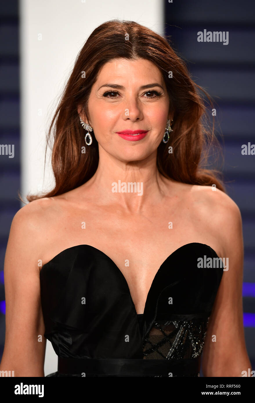 Marisa Tomei attending the Vanity Fair Oscar Party held at the Wallis Annenberg Center for the Performing Arts in Beverly Hills, Los Angeles, California, USA. - Stock Image