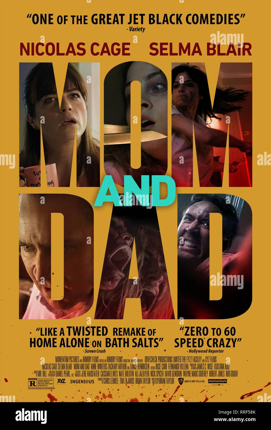 MOM AND DAD, MOVIE POSTER, 2017 - Stock Image