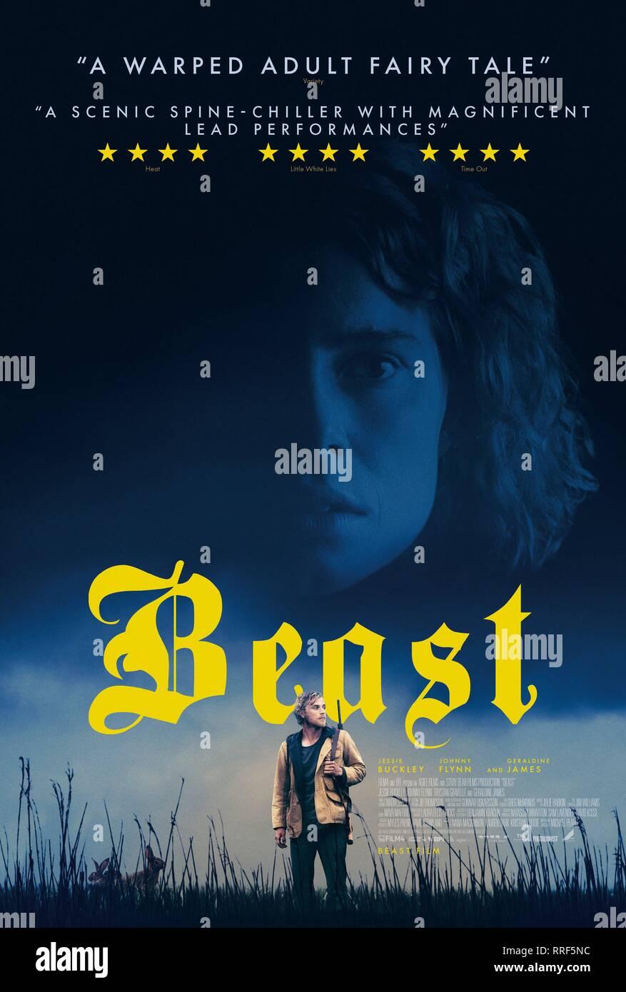 BEAST, MOVIE POSTER, 2017 - Stock Image