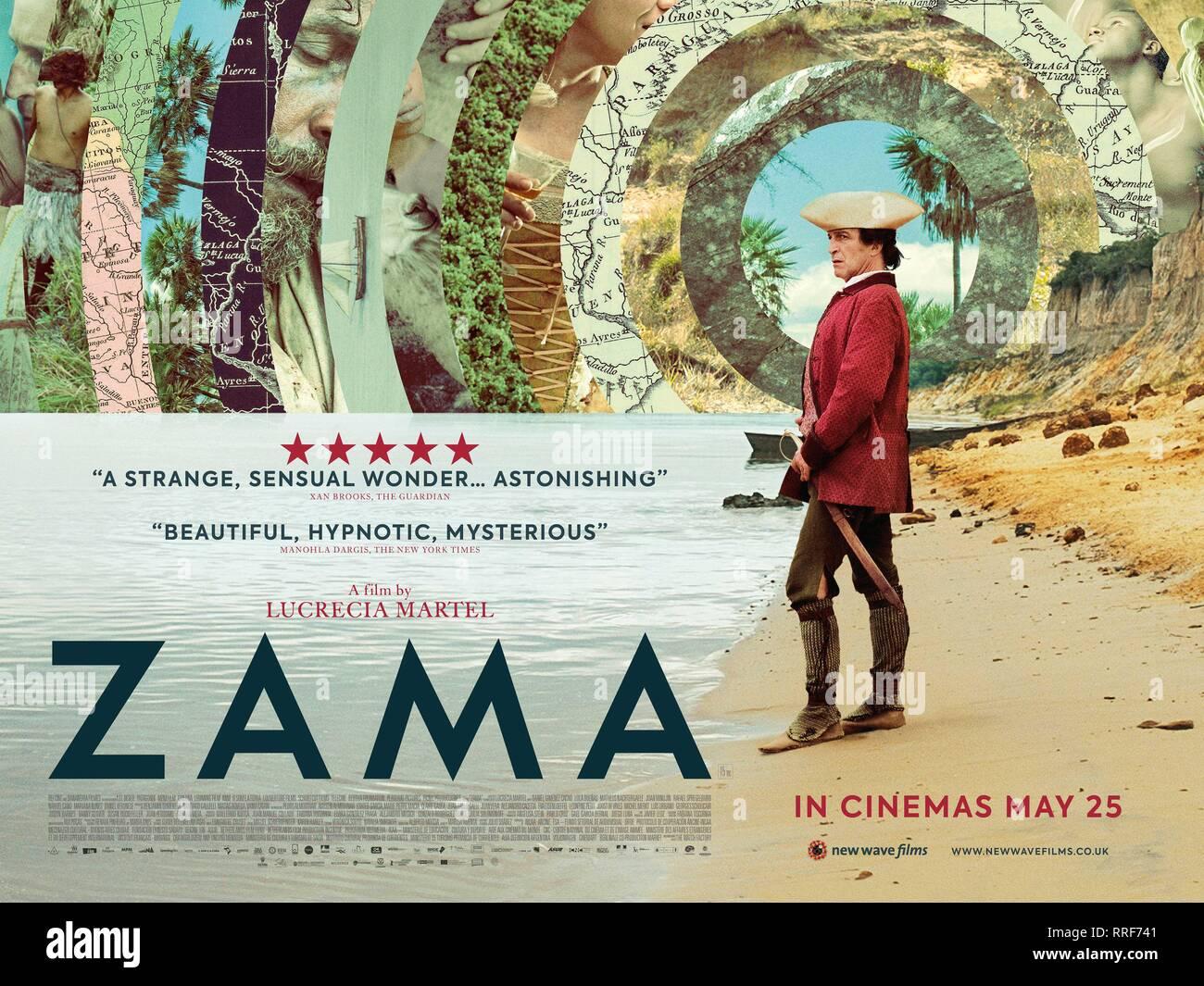 ZAMA, MOVIE POSTER, 2017 - Stock Image