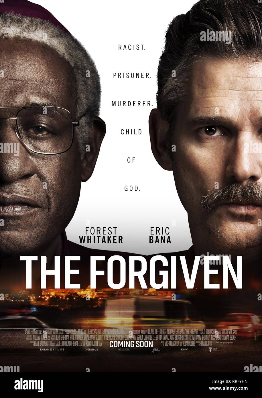 THE FORGIVEN, FOREST WHITAKER , ERIC BANA POSTER, 2017 Stock