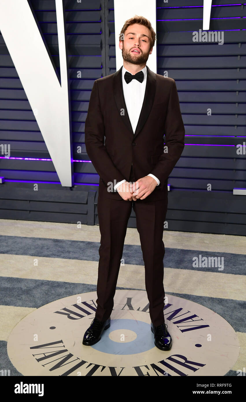 Douglas Booth attending the Vanity Fair Oscar Party held at