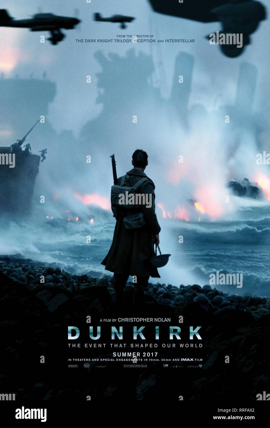 DUNKIRK, MOVIE POSTER, 2017 - Stock Image