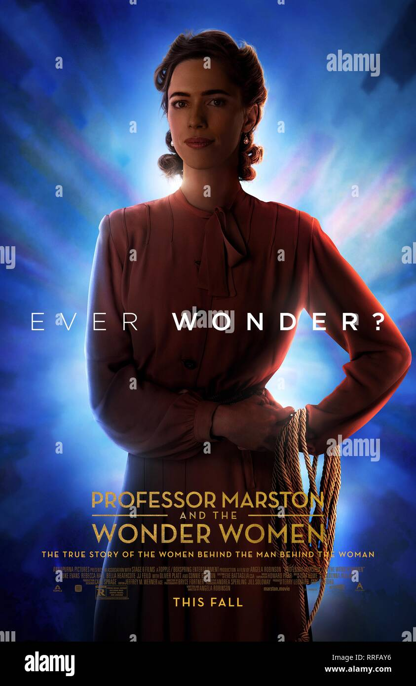 Professor Marston And The Wonder Women Rebecca Hall Poster 2017 Stock Photo Alamy