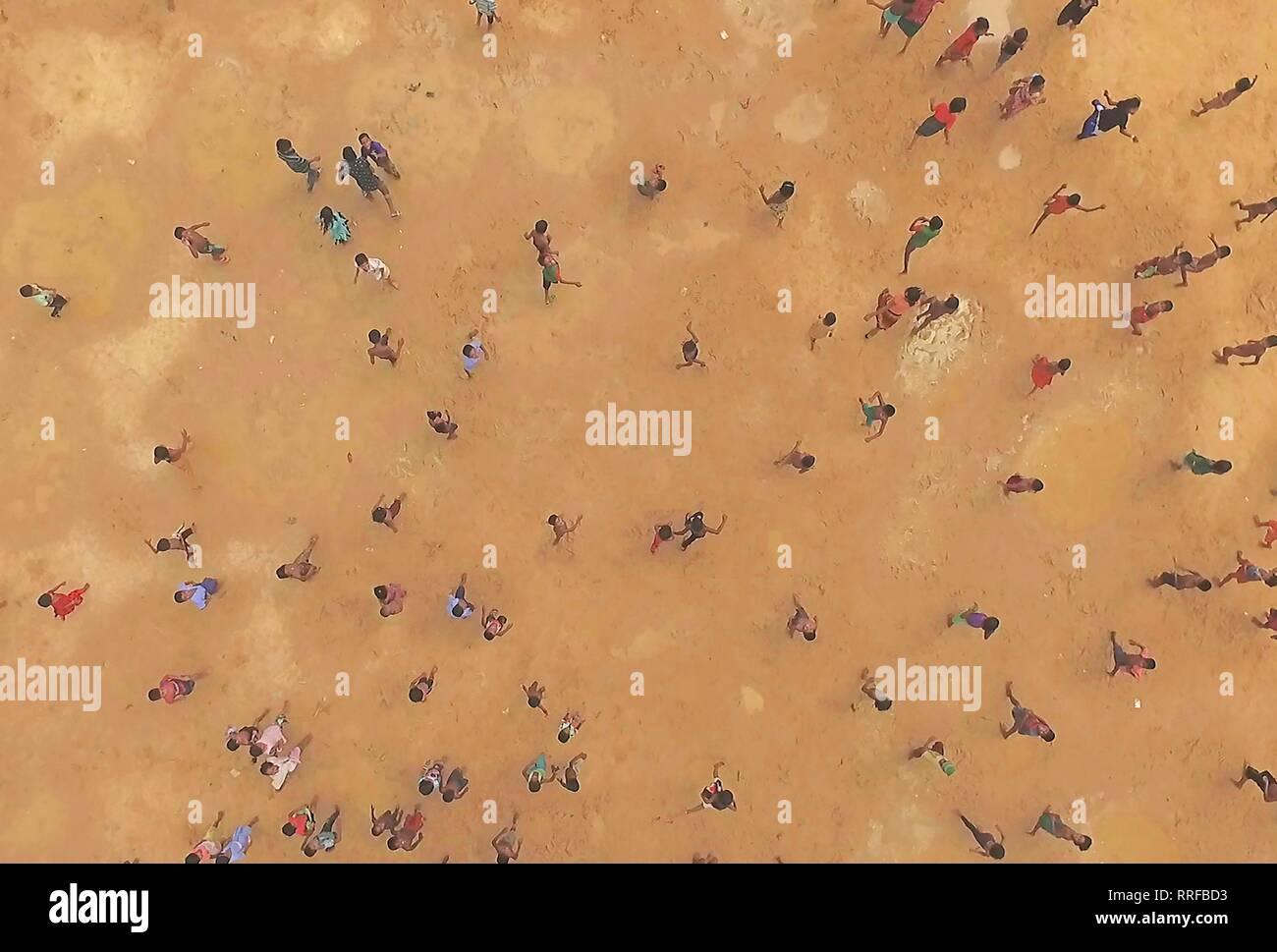 HUMAN FLOW, REFUGEES, 2017 - Stock Image