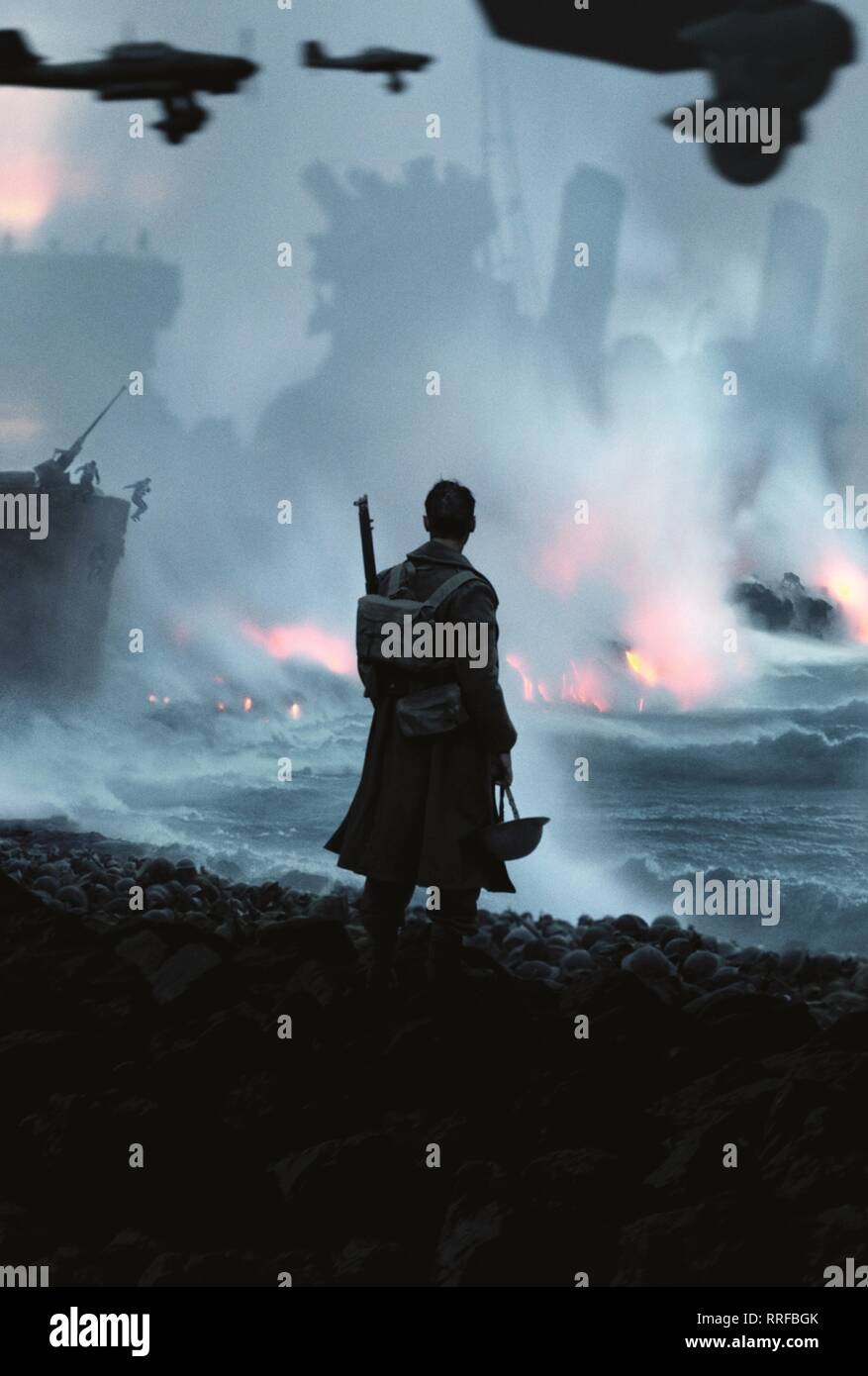 DUNKIRK, BATTLE SCENE, 2017 - Stock Image
