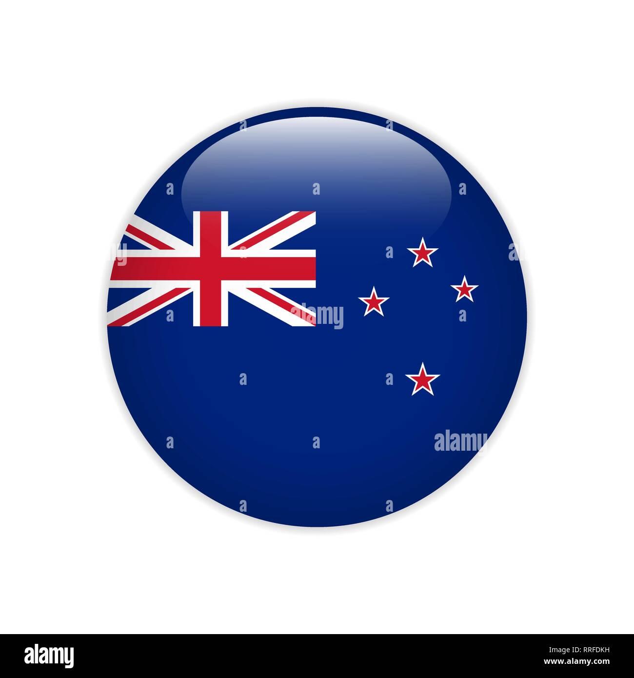 Flag on button - Stock Vector