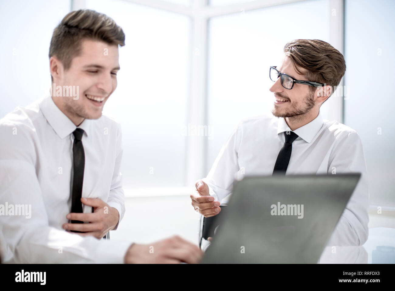 Working process in a modern office - Stock Image