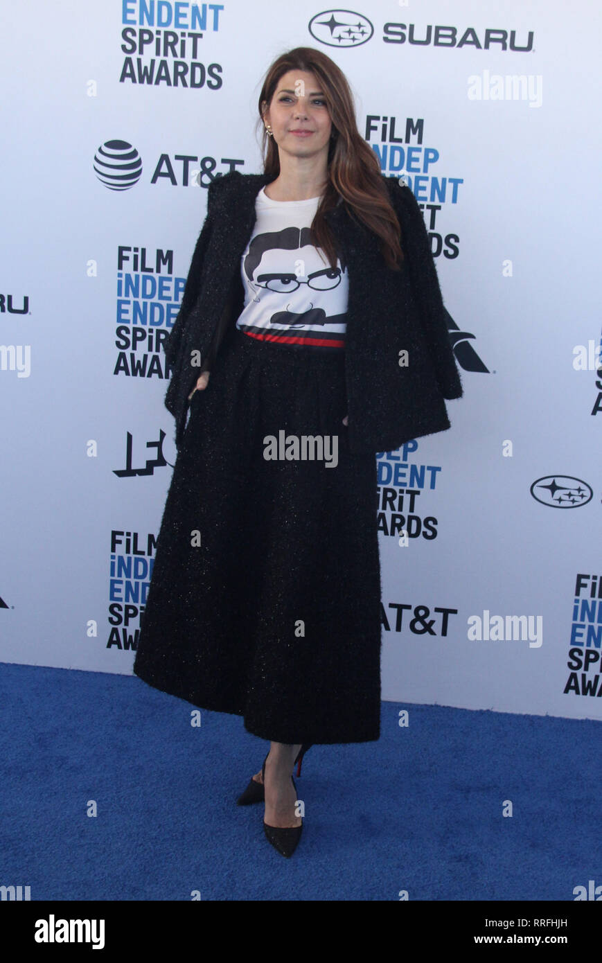 Marisa Tomei  02/23/2019 2019 Film Independent Spirit Awards in Santa Monica, CA   Photo: Cronos/Hollywood News - Stock Image