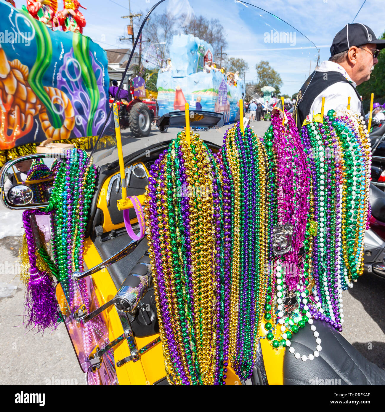 New Orleans, USA  24th Feb 2019  Mardi Gras group of