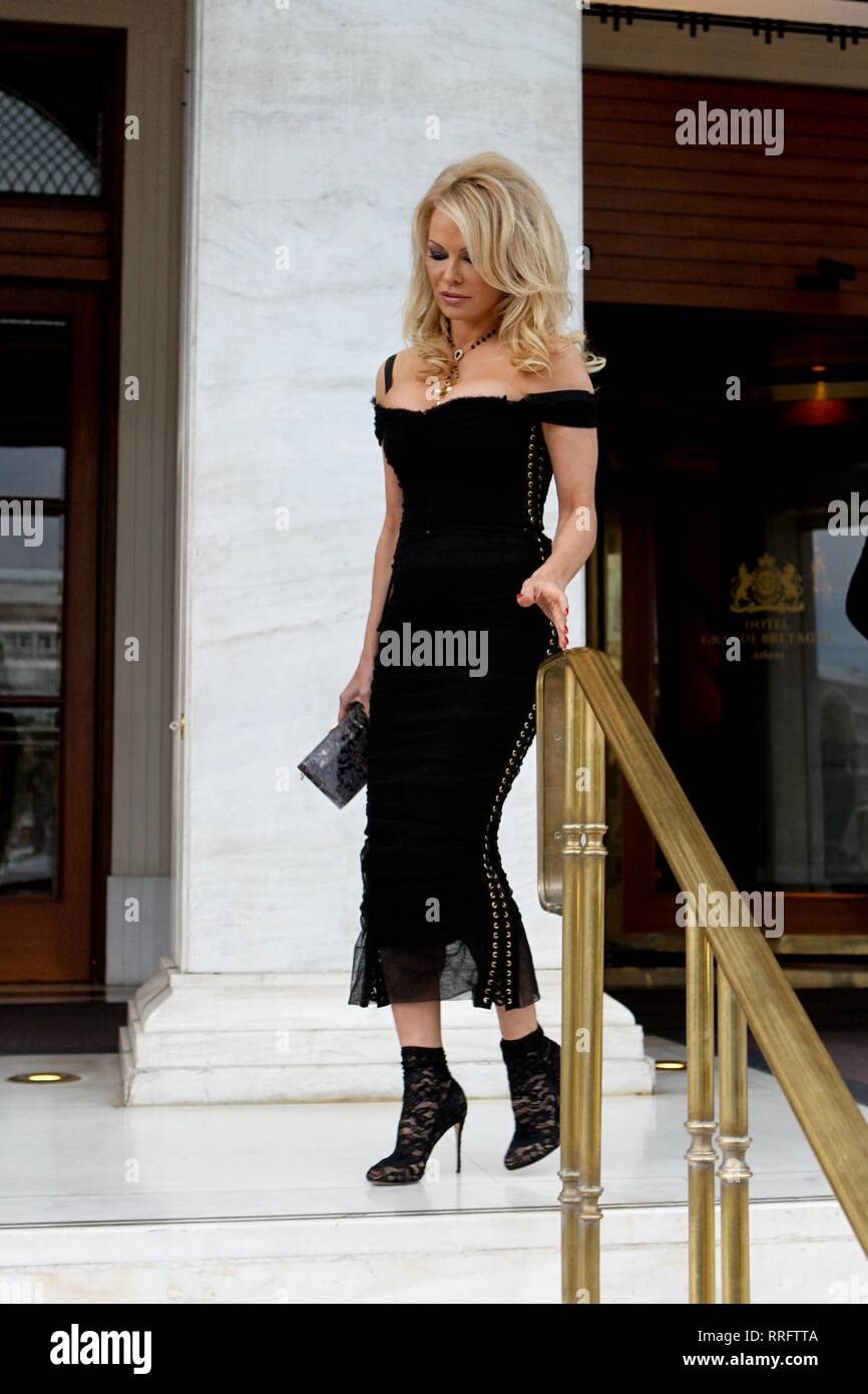 Athens, Greece  25th Feb, 2019  PAMELA ANDERSON leave from