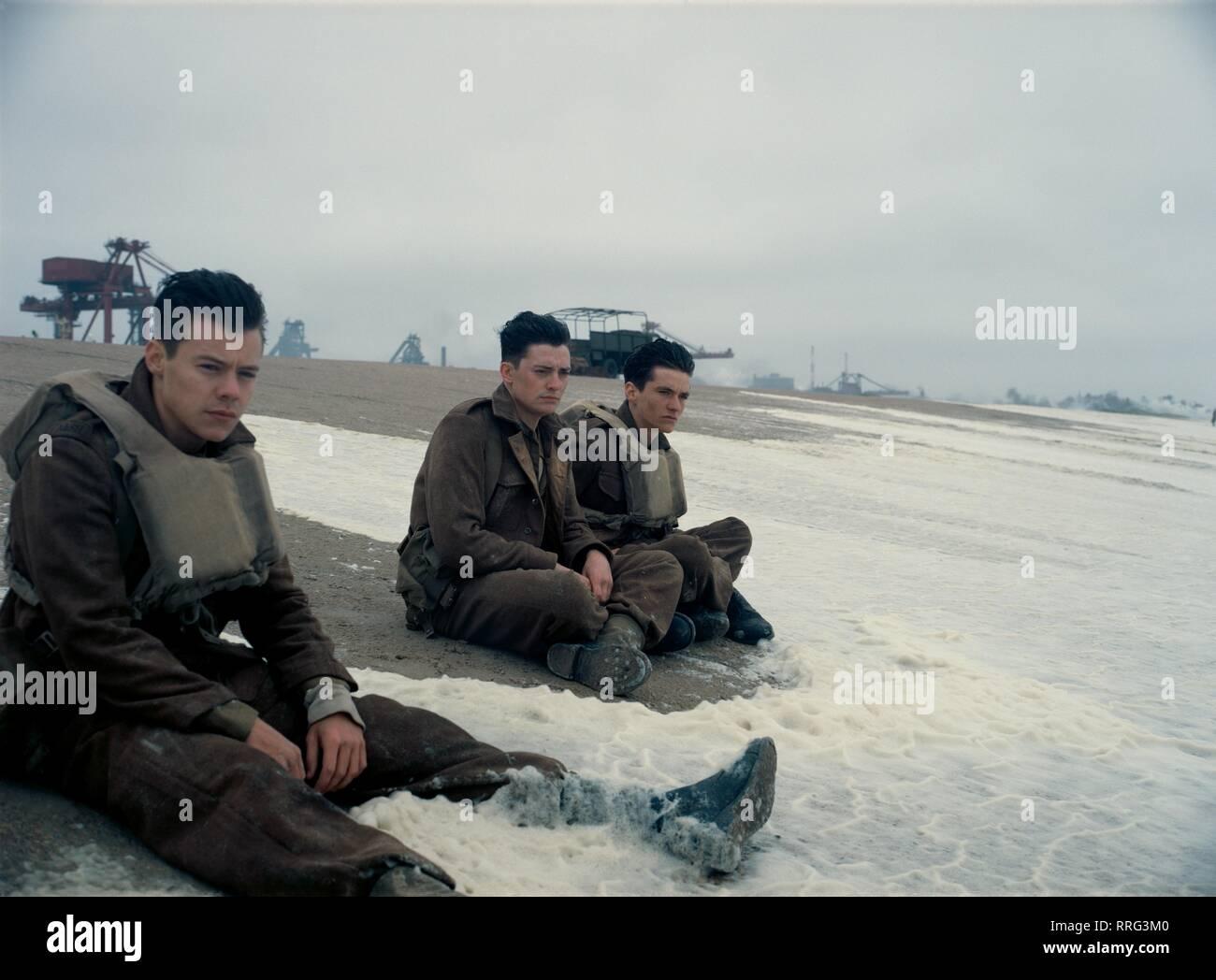 DUNKIRK, HARRY STYLES, ANEURIN BARNARD , FIONN WHITEHEAD, 2017 - Stock Image