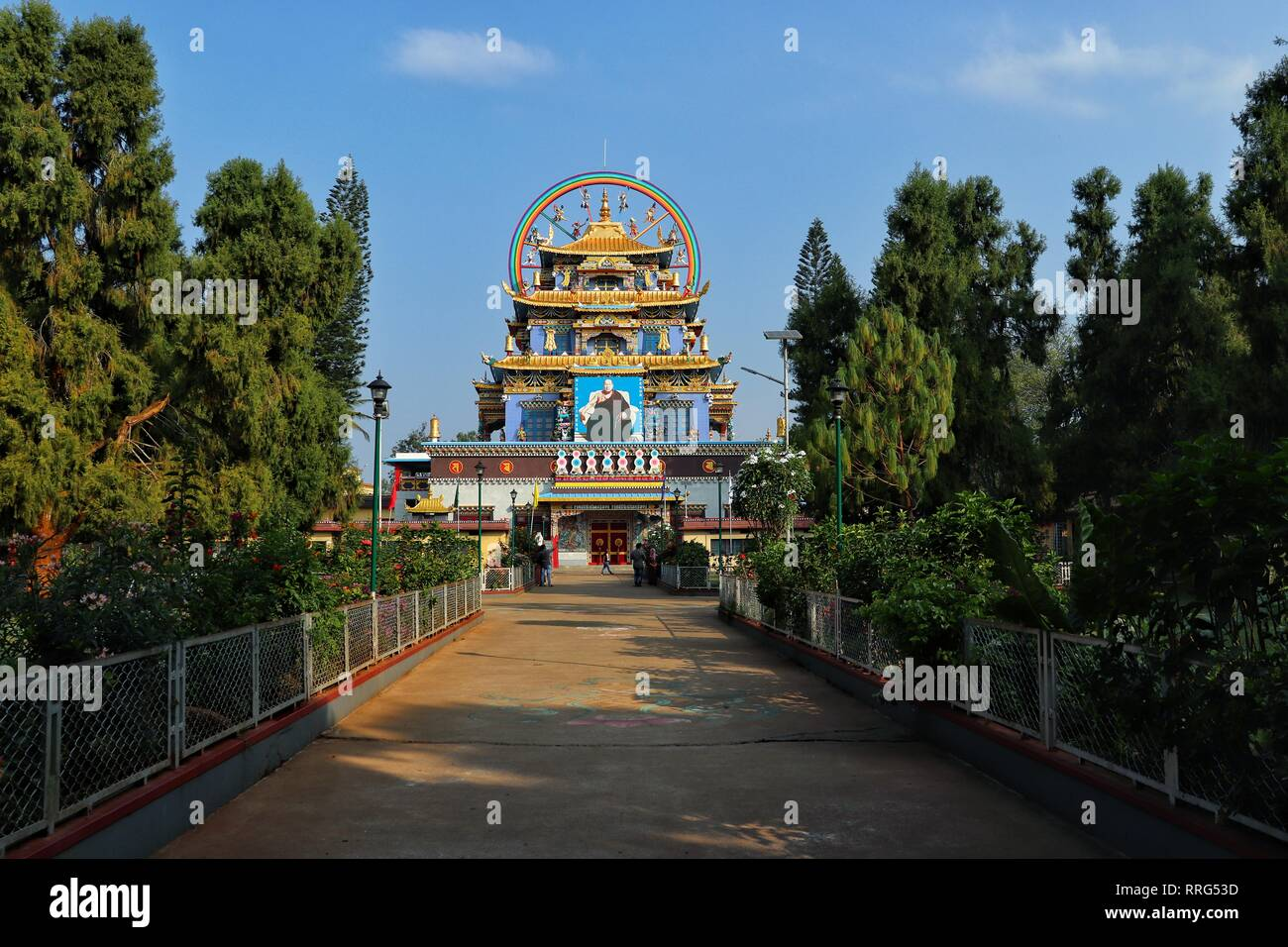 Golden temple mysore ,tradional picture,morning shot,colorful image - Stock Image