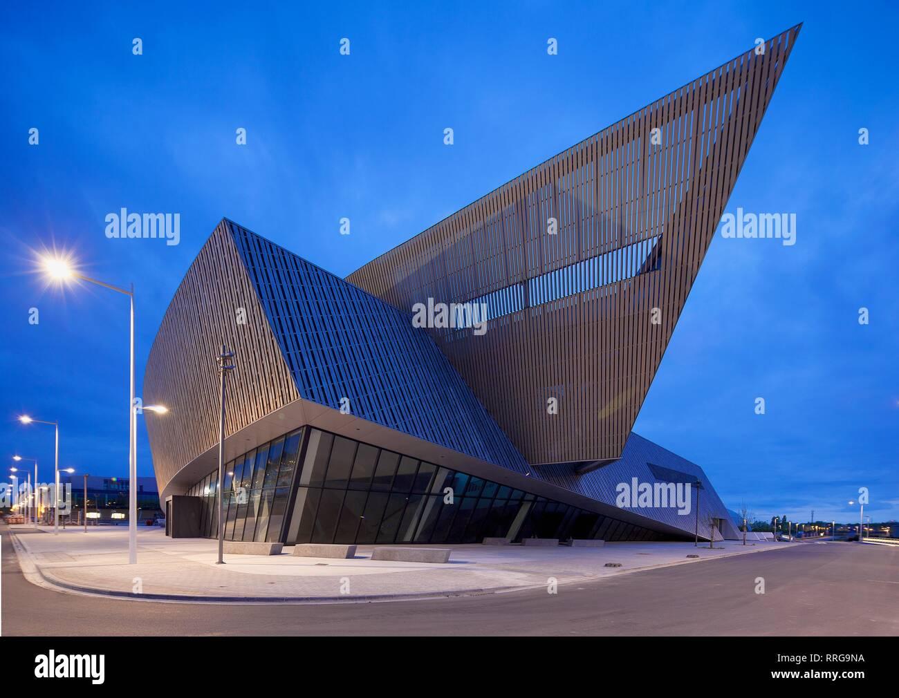 Le Manege Theatre, Mons, Wallonia, Belgium, Europe Stock Photo