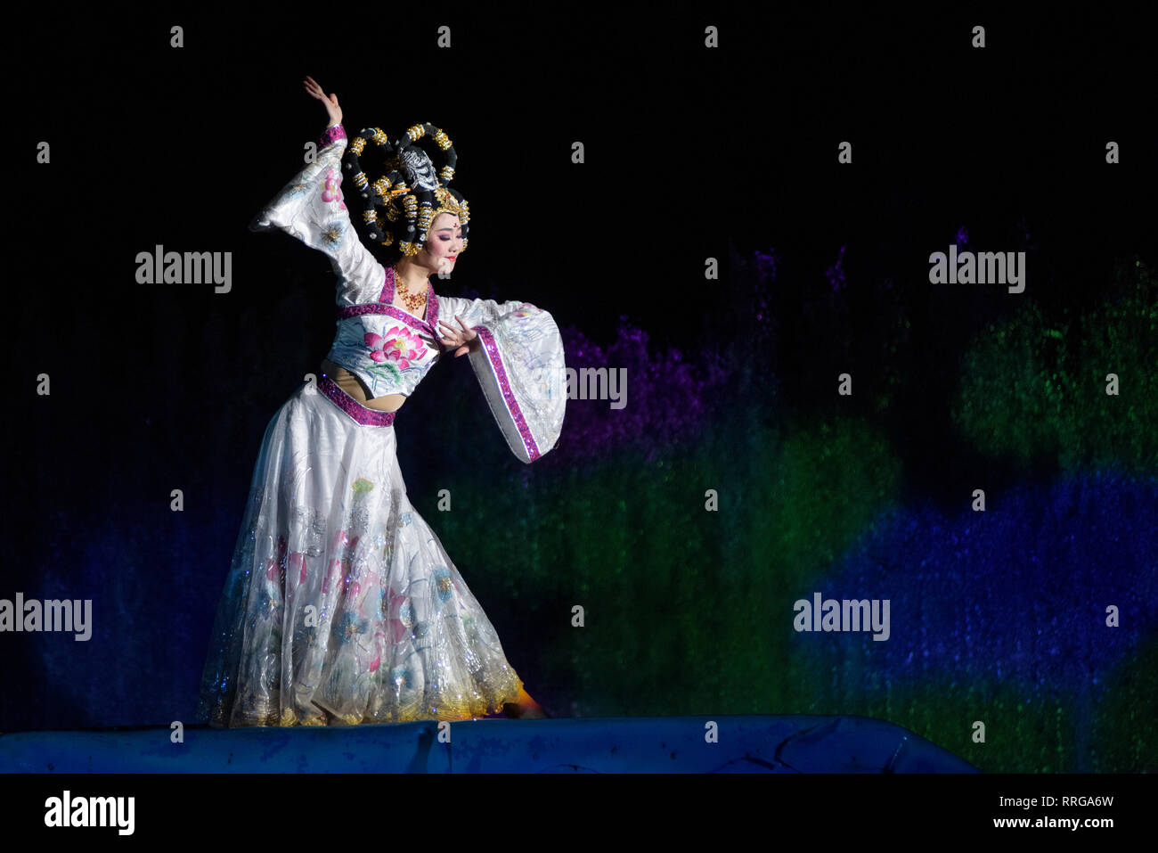 The Song of Everlasting Sorrow Show in Xi'an, Shaanxi Province, China, Asia - Stock Image