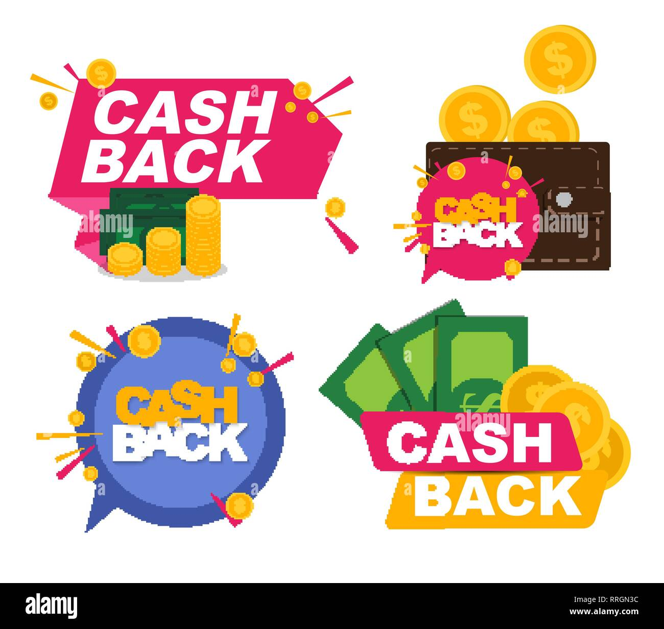 money cashback icon cillection set with gold dollar coins vector illustration eps10 stock vector image art alamy https www alamy com money cashback icon cillection set with gold dollar coins vector illustration eps10 image238239664 html
