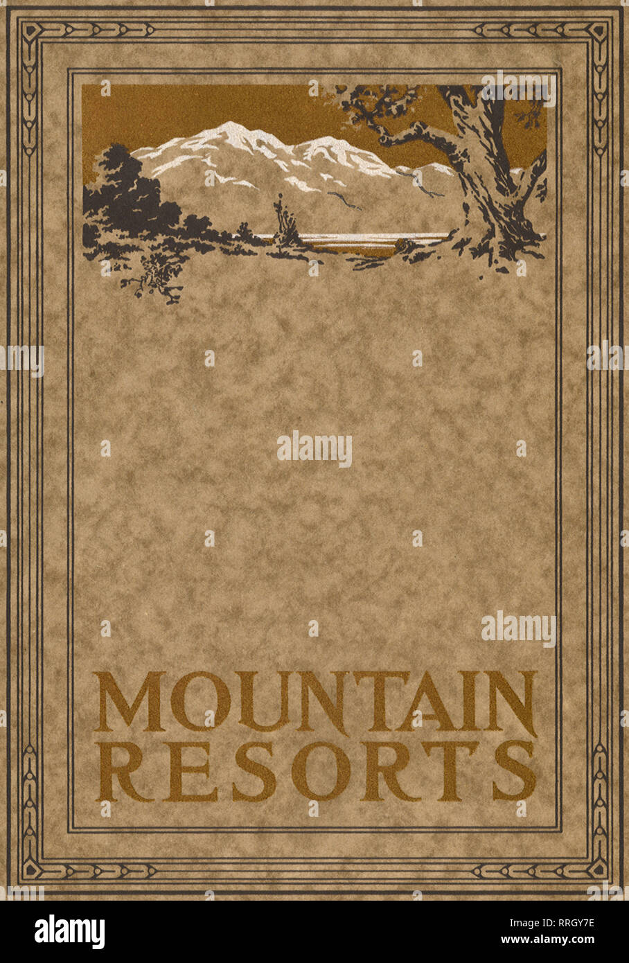 Ad for Mountain Resort. - Stock Image