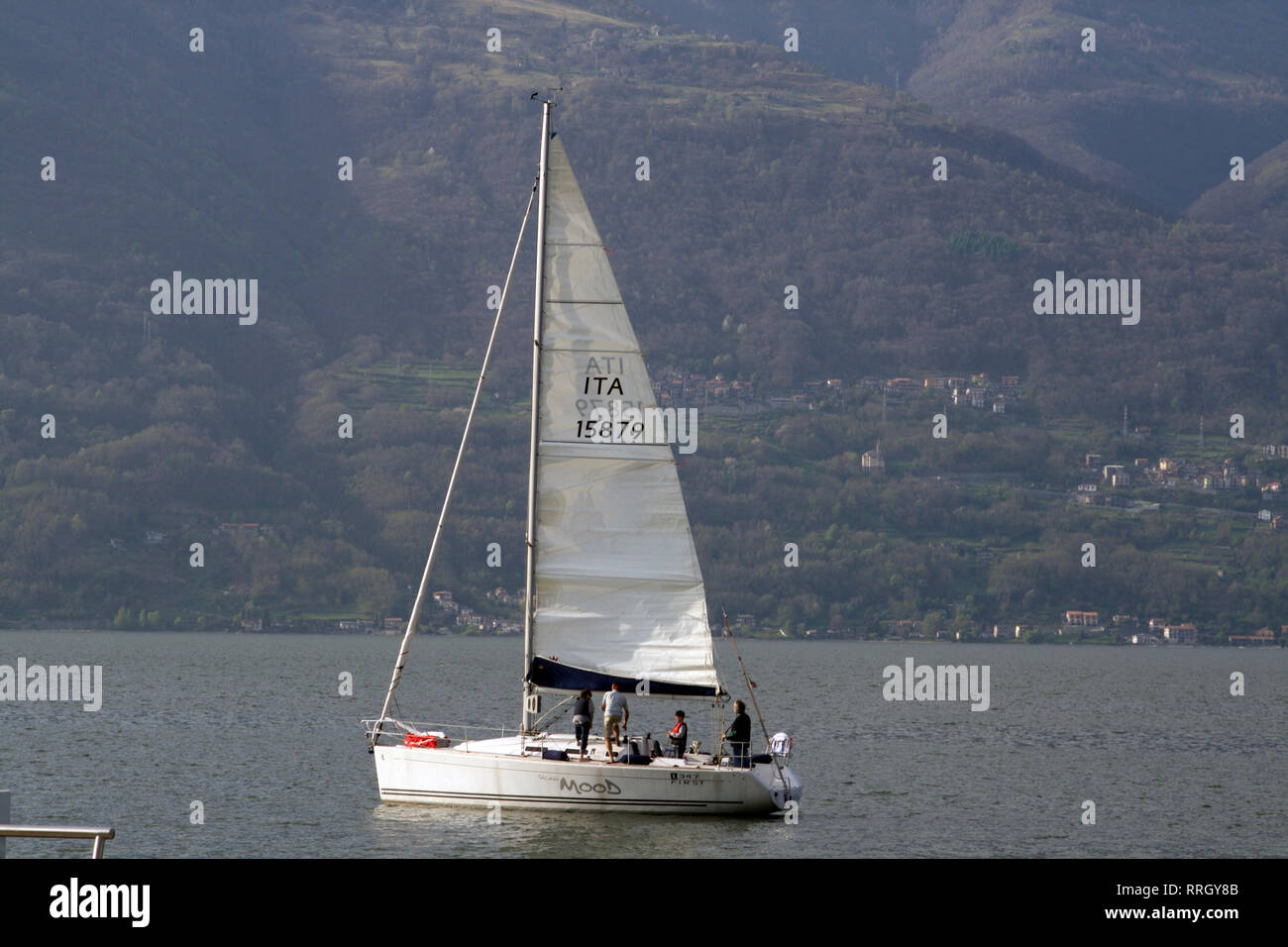 Tremezzo-Boat on Como lake - Stock Image