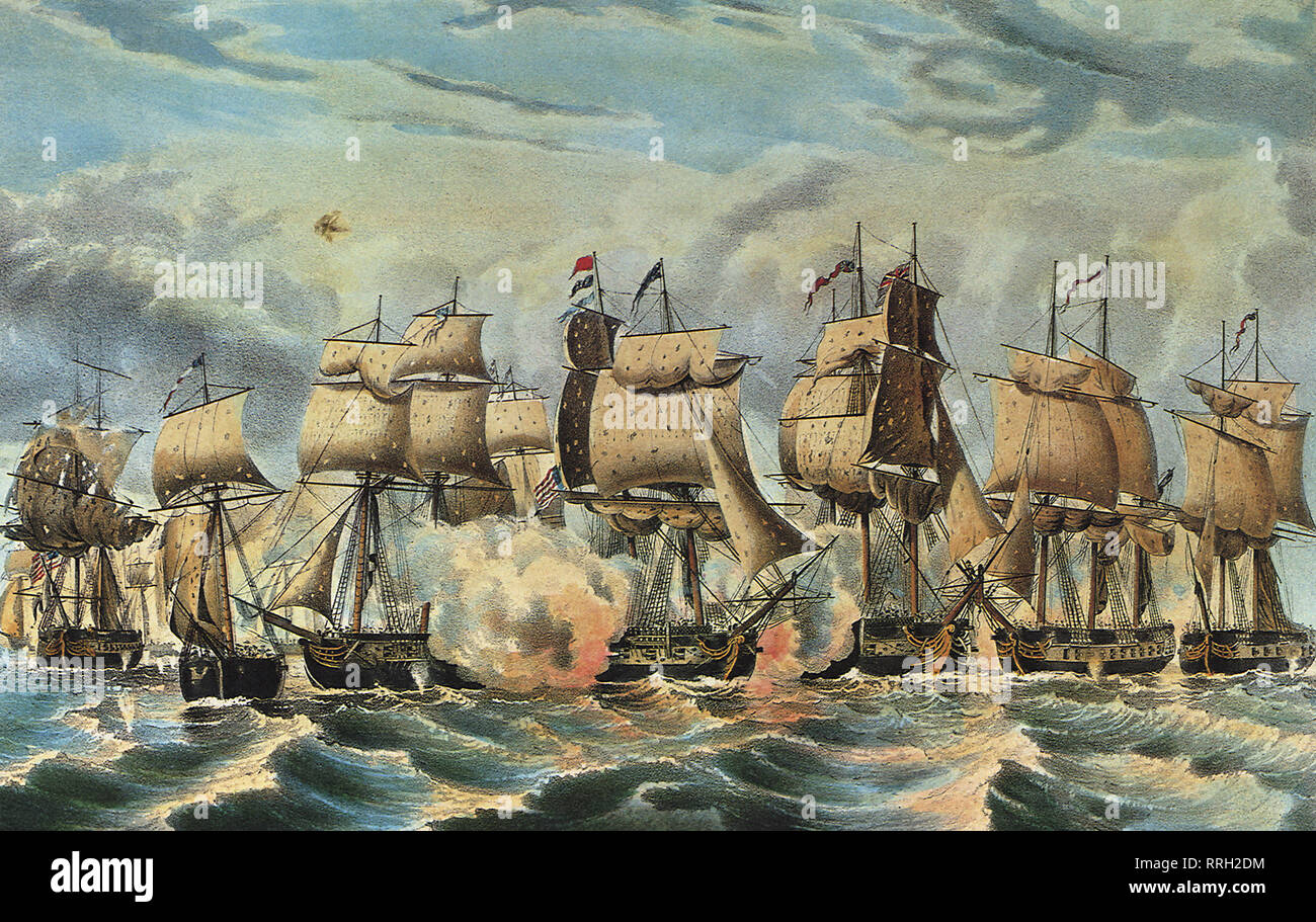 Perry's Victory on Lake Erie, Fought Sept. 10th, 1813. - Stock Image