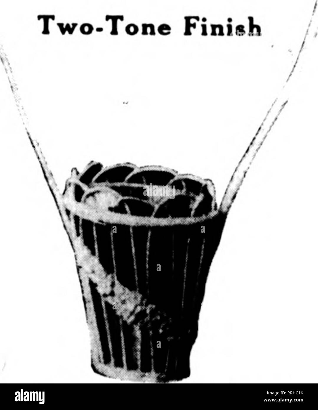 . Florists' review [microform]. Floriculture. , Two-Tone Finish /. Please note that these images are extracted from scanned page images that may have been digitally enhanced for readability - coloration and appearance of these illustrations may not perfectly resemble the original work.. Chicago : Florists' Pub. Co - Stock Image