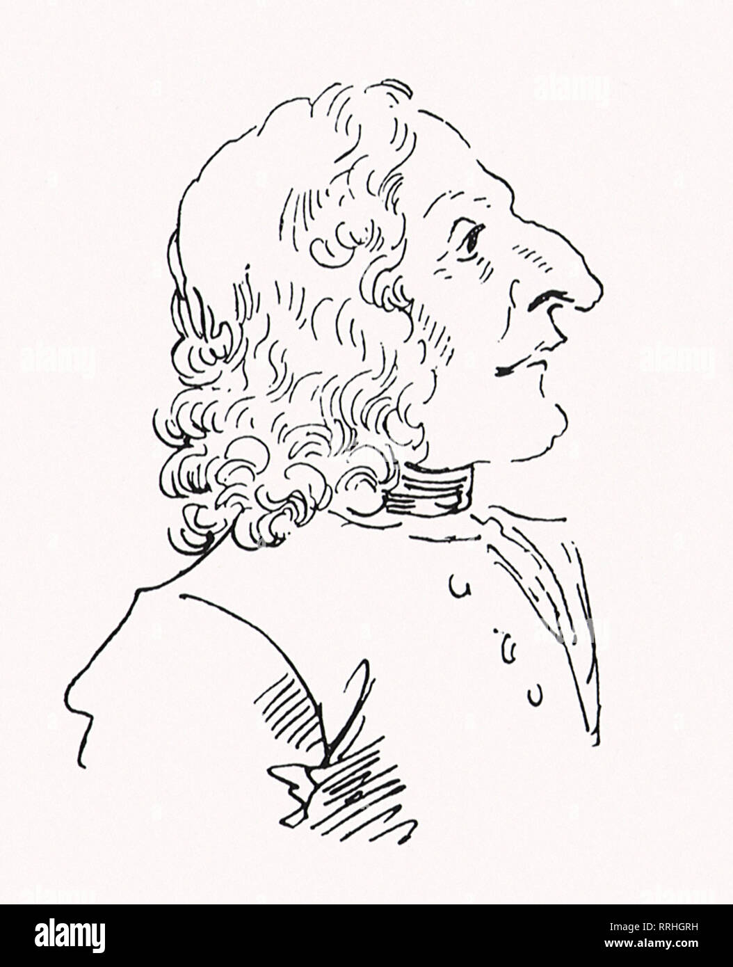 Antonio Vivaldi. - Stock Image