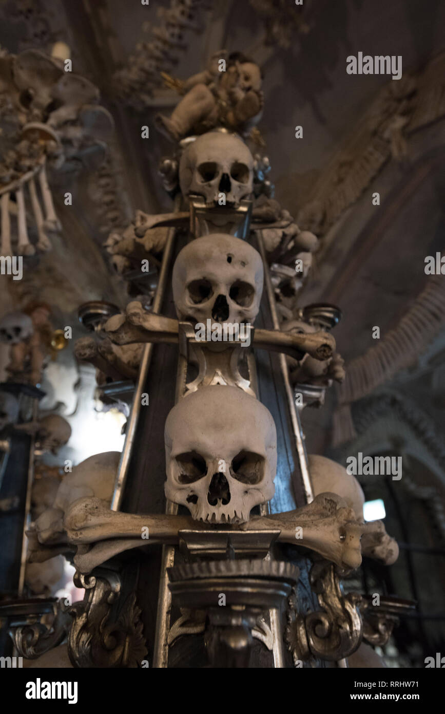 Sedlec Ossuary, Kutna Hora, Czech Republic, Europe - Stock Image