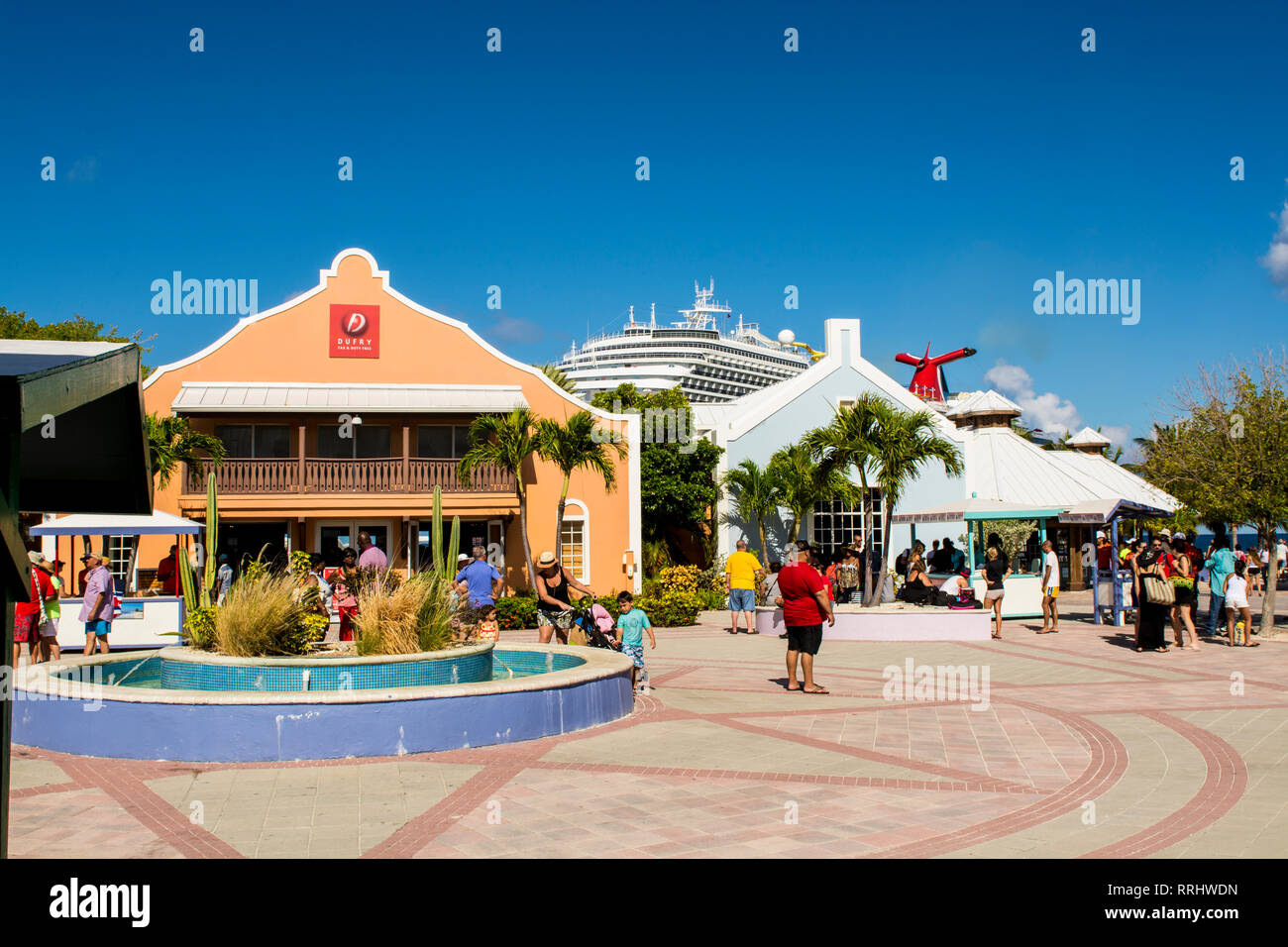 Grand Turk Cruise Port, Grand Turk Island, Turks and Caicos Islands, West Indies, Central America - Stock Image