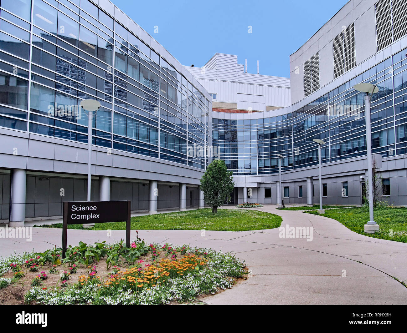 ONTARIO, CANADA - JULY 2013:  Universities are expanding their science offerings to be competive in the modern era of technology, and modern new build - Stock Image