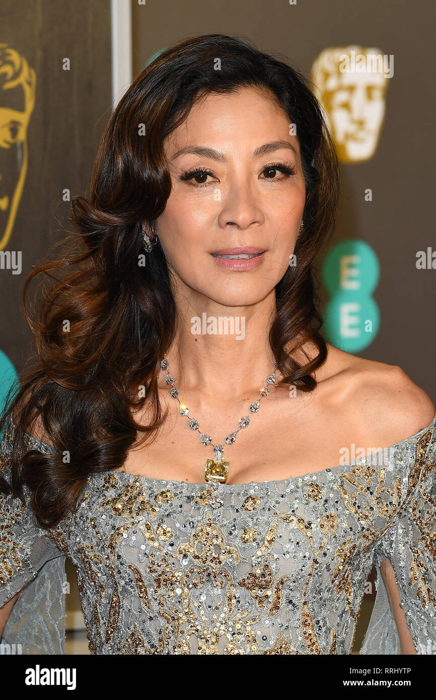 Malaysian Actress Michelle Yeoh Attends The Ee British Academy Film Awards At The Royal Albert Hall In London 10th February 2019 C Paul Treadway Stock Photo Alamy