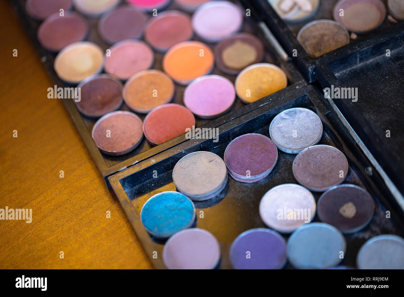 Makeup artist color palette - Stock Image