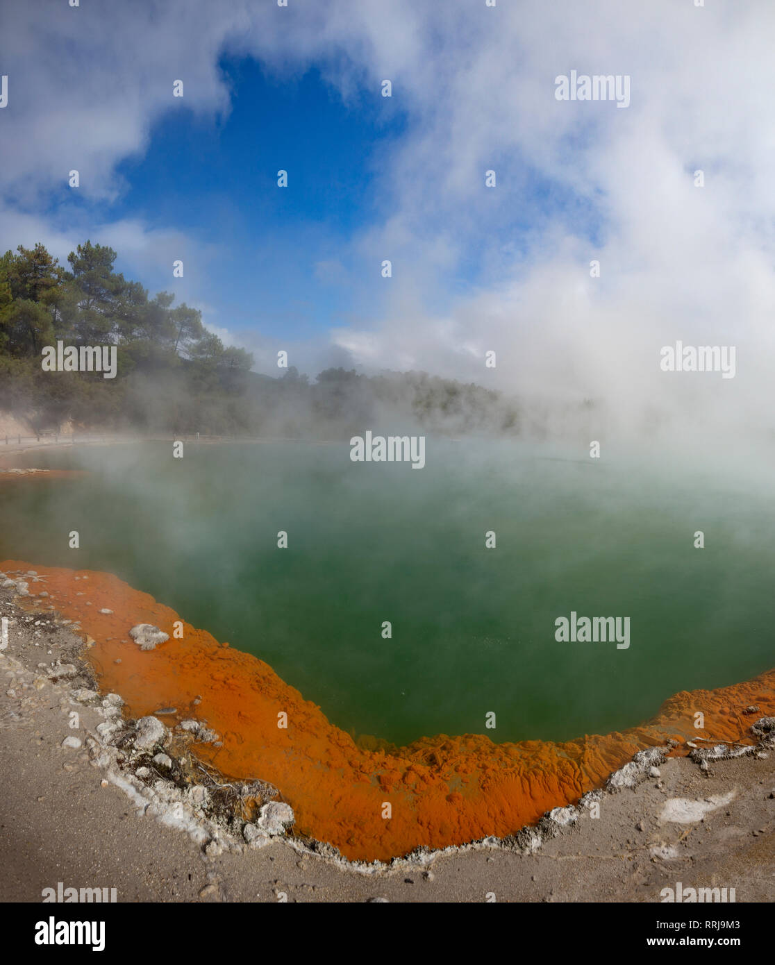 Wai-O-Tapu, Rotorua, north island,New Zealand. Stock Photo