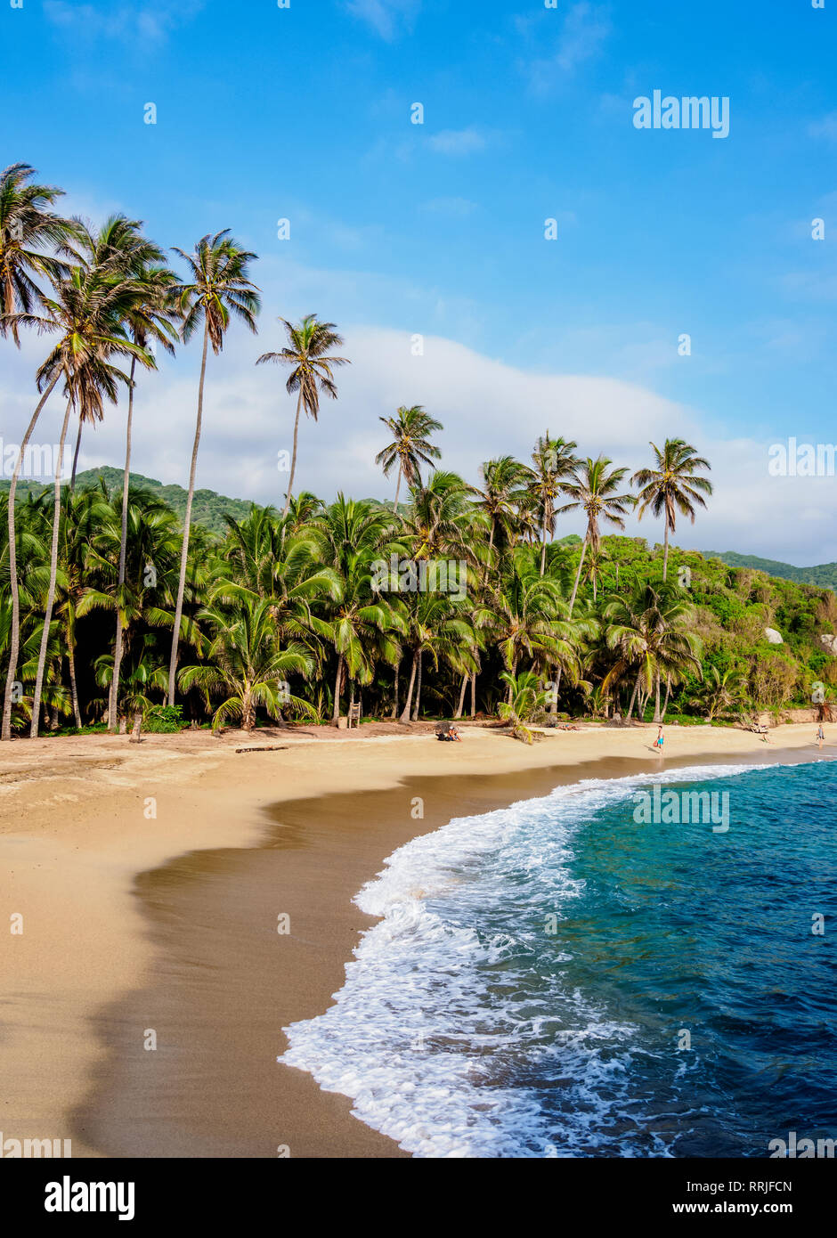 El Cabo San Juan del Guia beach, Tayrona National Natural Park, Magdalena Department, Caribbean, Colombia, South America - Stock Image