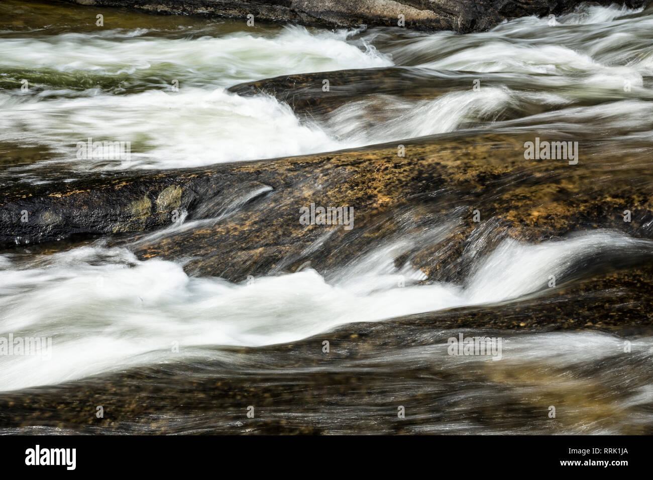Rapids on Rushing River, Rushing River Provincial Park, Ontario, Canada - Stock Image