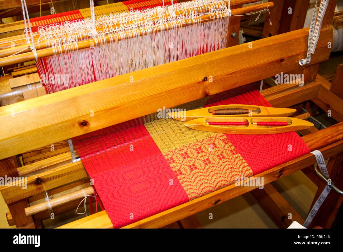 Handloom Making Stock Photos & Handloom Making Stock Images