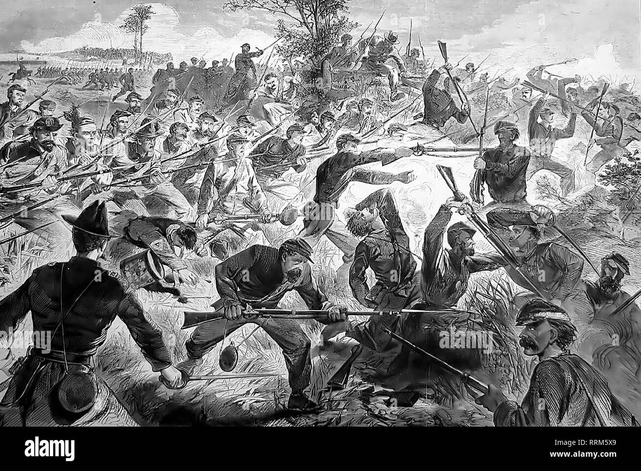 The War for the Union, 1862 - A Bayonet Charge - Stock Image
