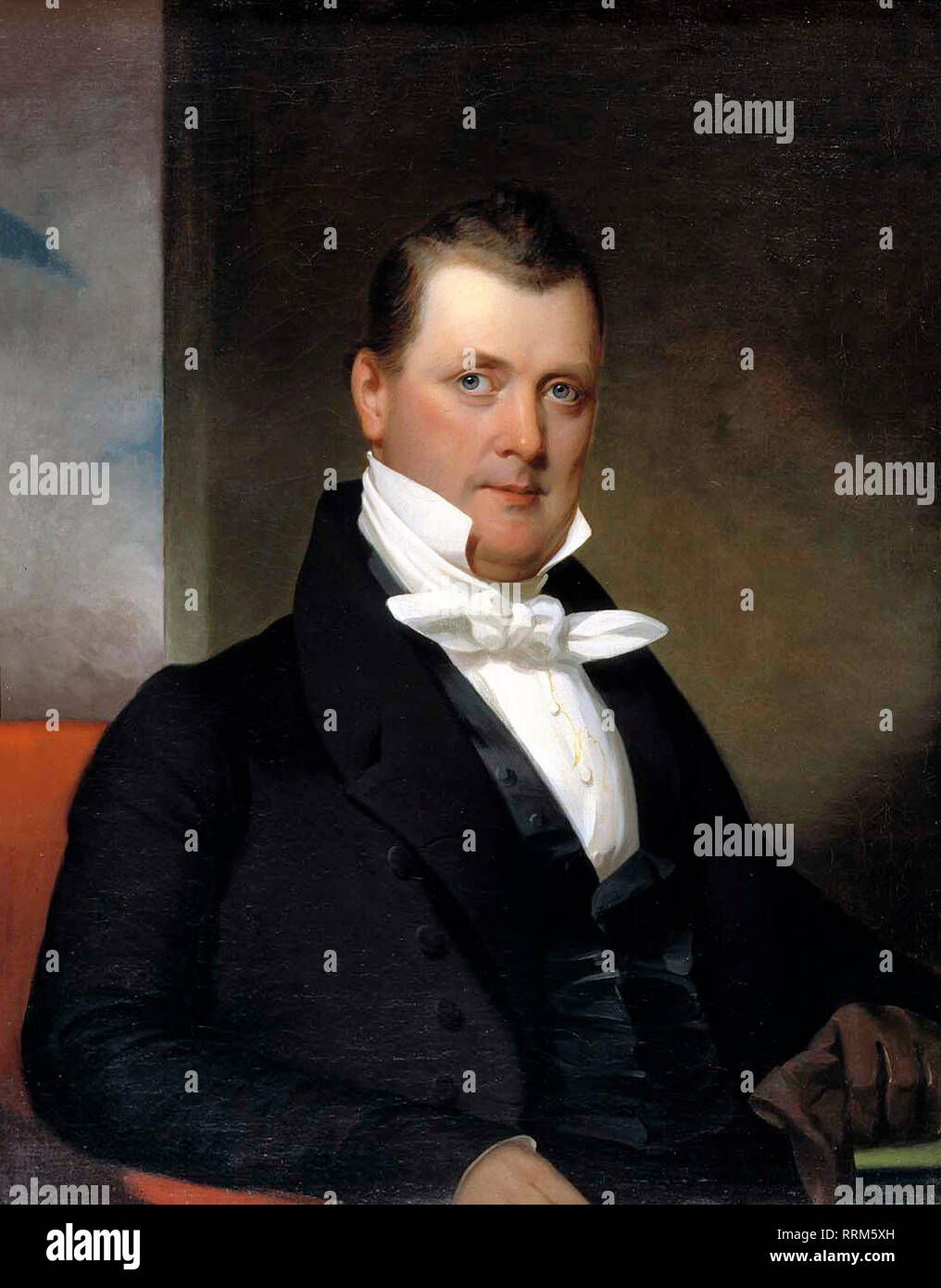 Portrait of James Buchanan painted by J. Eichholtz in 1834. - Stock Image