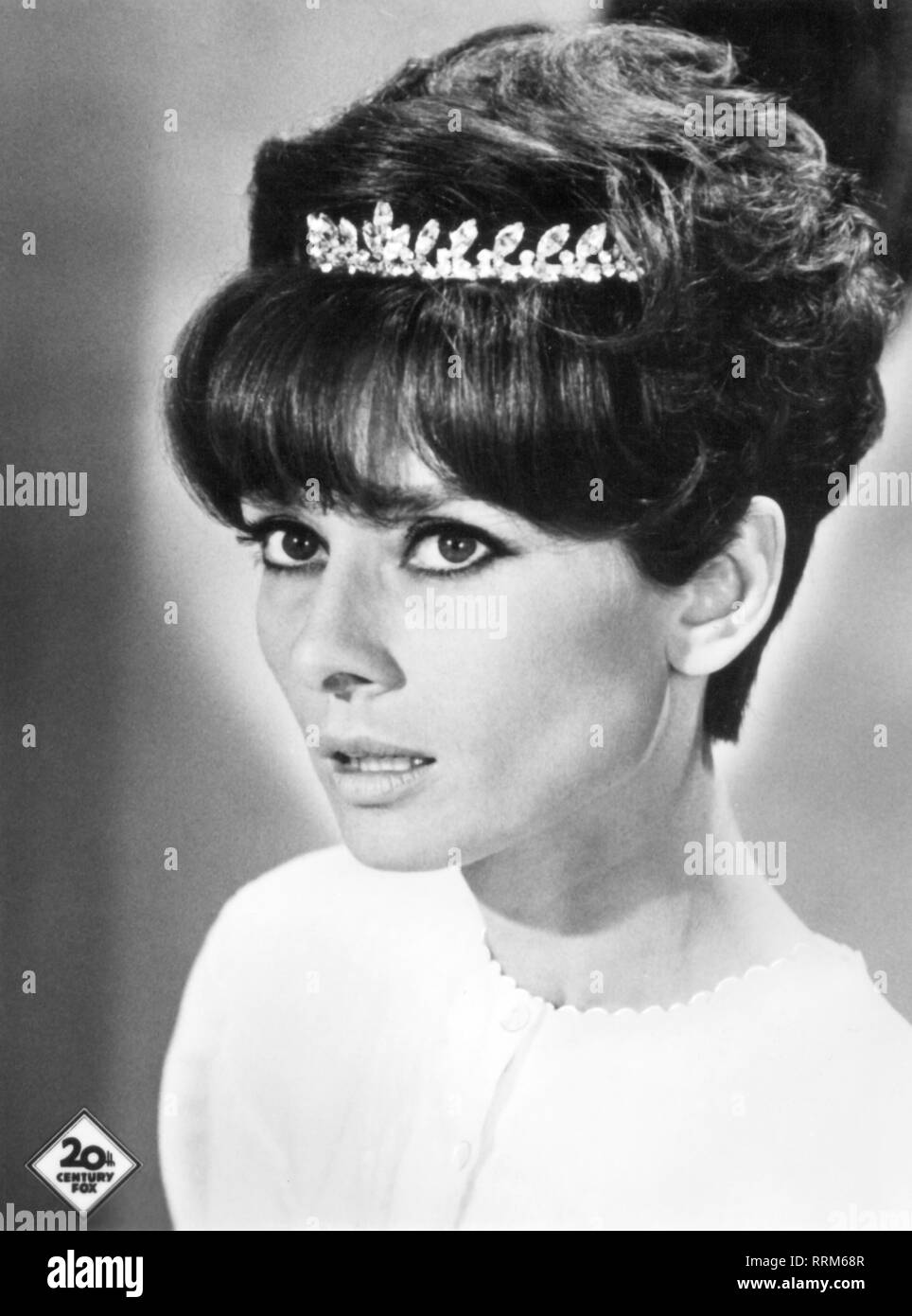 Hepburn, Audrey, 4.5.1929 - 20 1.1993, British actress, portrait, picture postcard, 1960s, Additional-Rights-Clearance-Info-Not-Available - Stock Image