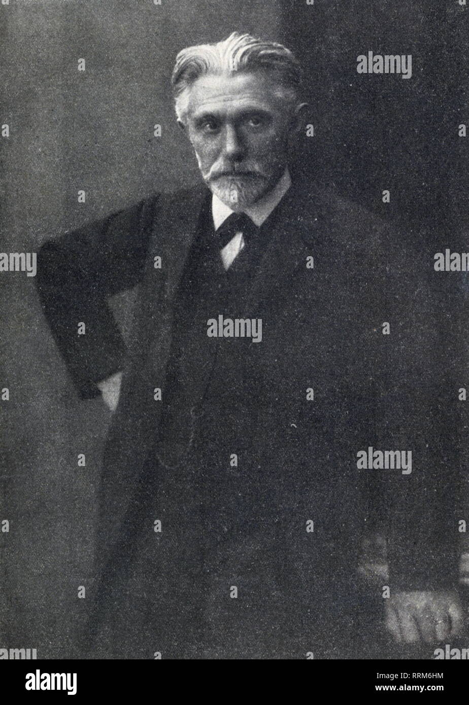 Bebel, August, 22.2.1840 - 13.8.1913, German politician and publicist, member of the German Reichstag 1871 - 1881 and 1883 - 1913, half-length, circa 1895, published to his death, 'Die Zeit im Bild', August 1913, Additional-Rights-Clearance-Info-Not-Available - Stock Image