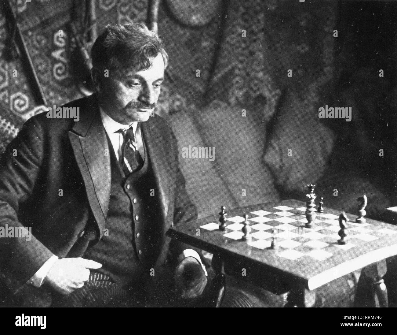 Lasker, Emanuel, 24.12.1868 - 13.1.1941, German chess player, half-length, circa 1930, Additional-Rights-Clearance-Info-Not-Available - Stock Image