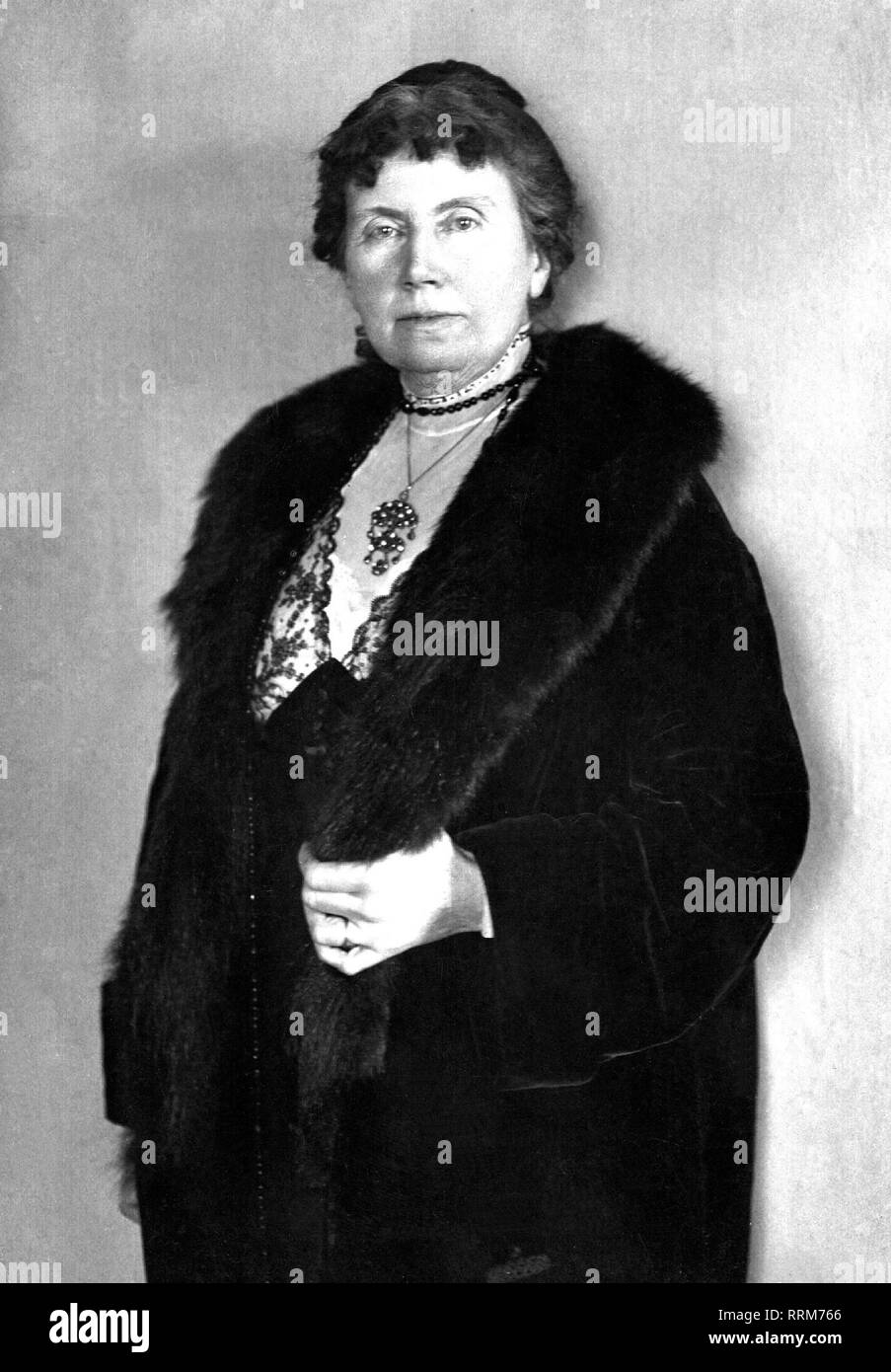 Kurz, Isolde, 21.12.1853 - 5.4.1944, German author / writer, half length,, Additional-Rights-Clearance-Info-Not-Available - Stock Image