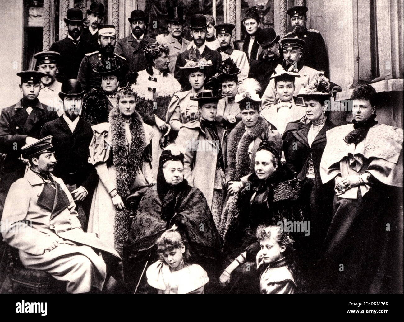 Victoria I, 24.5.1819 - 22.1.1901, Queen of Great Britain and Ireland 1837 - 1901, with her family, in Coburg, 1889, Additional-Rights-Clearance-Info-Not-Available - Stock Image