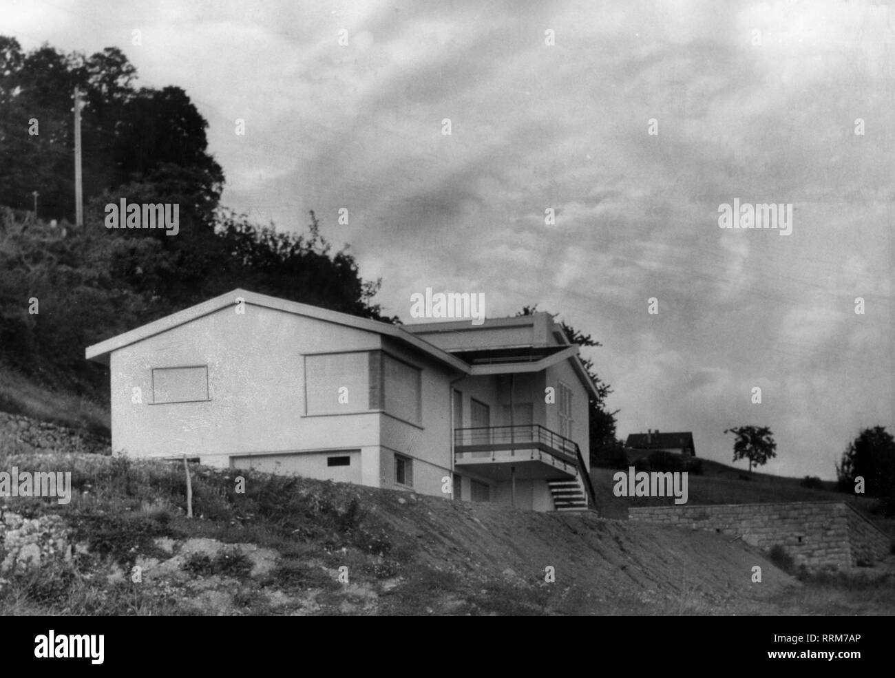 Globke, Hans, 10.9.1898 - 13. 2.1973, German jurist, State Secretary in the Federal Chancellory 28.10.1953 - 15.10.1963, his mansion in Chardonne, Waadt, Switzerland, exterior view, 1963, Additional-Rights-Clearance-Info-Not-Available - Stock Image