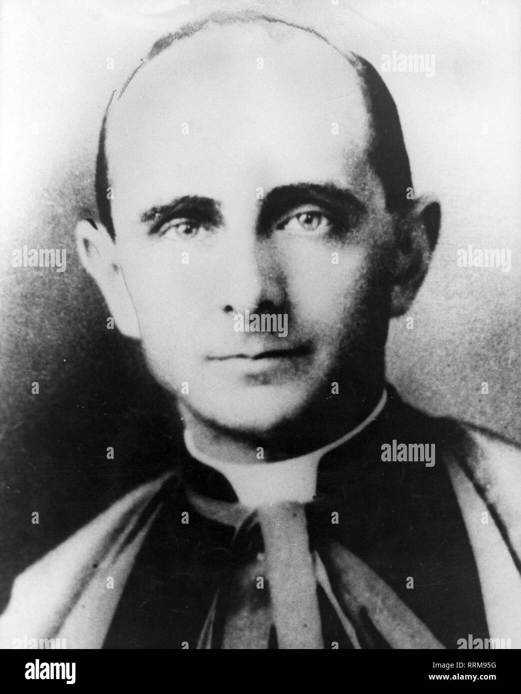 Paul VI (Giovanni Battista Montini), 26.9.1897 - 6.8.1978, Pope 21.6.1963 - 6.8.1978, portrait, on day of his elevation to cardinal, 15.12.1958, Additional-Rights-Clearance-Info-Not-Available - Stock Image