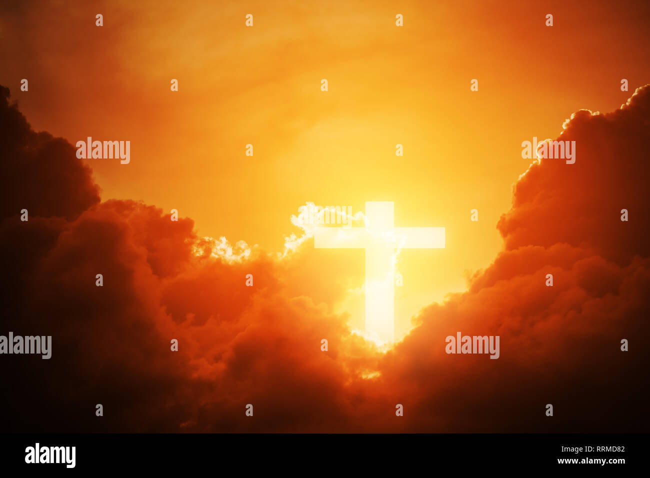 Resurrection 238321330 Shape Background Cross Conceptual God Sky For Worship Symbol Alamy Belief Wood Sunset Clouds Of Stock Christian Over Photo - With A Or God And Religion