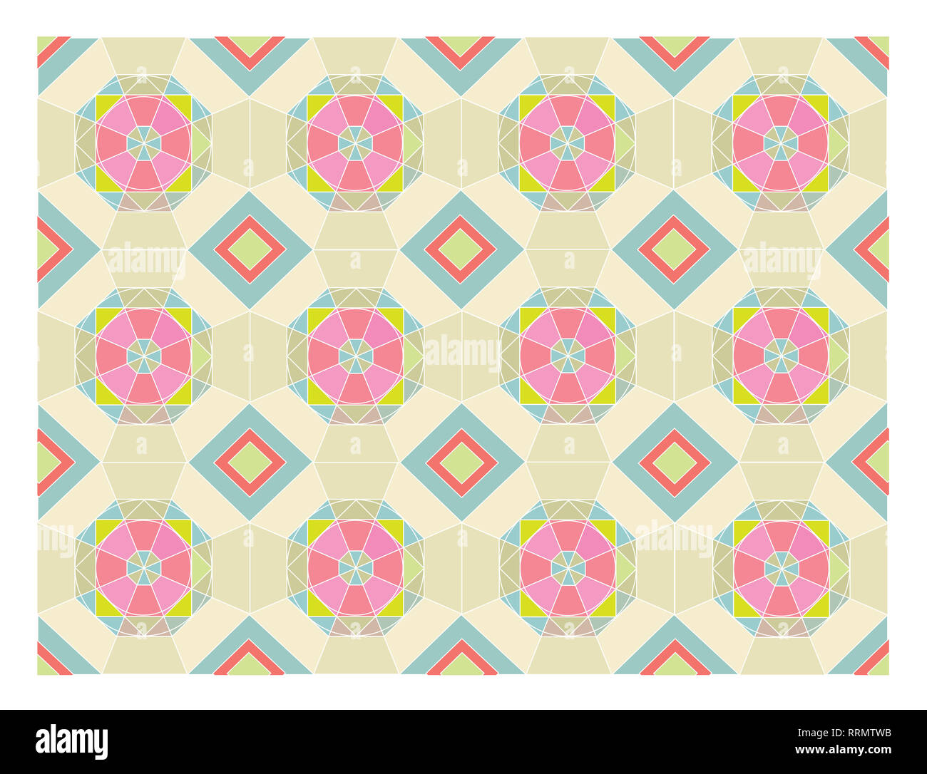Hexagon pattern with bright colors - Stock Image